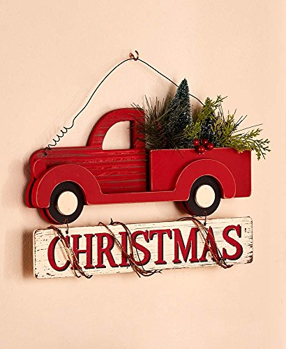 Vintage Classic Holiday Decor Wall Hanging Wooden Christmas (Vintage Christmas)