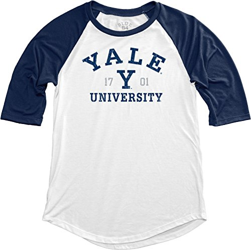 (NCAA Yale Bulldogs Women's Teagan Baseball Tee, Large, Navy)