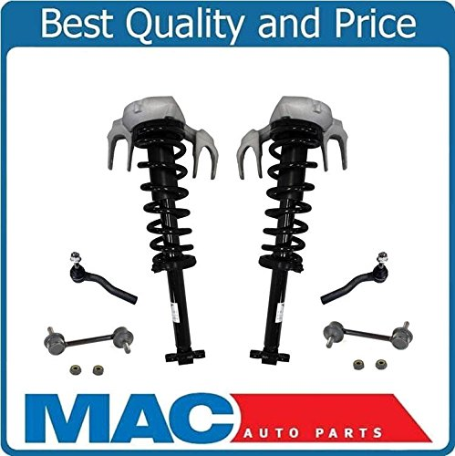 Front Complete Loaded Coil Spring Struts with Mounts Tie Rods Stabilizer Sway Bar Links Fits 03-07 Cadillac CTS FE1 SUSPENSION