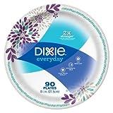 Dixie Everyday 8.5'' Paper Plates -90ct Paisley Purple