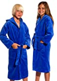 TowelRobes Kids Terry Velour Hooded Unisex Bathrobe
