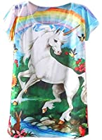 KaiTingu Women's Short Sleeve Unicorn Graphic Print Vintage T Shirt