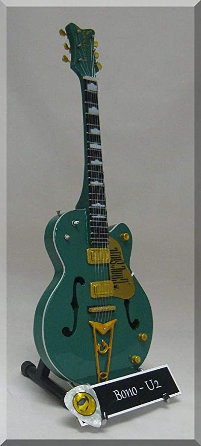 Bono en miniatura Mini guitarra Gretsch de U2 el objetivo es alma W/Nombre de etiqueta: Amazon.es: Instrumentos musicales