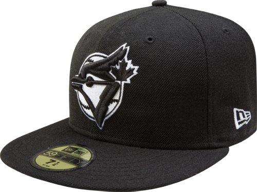 Blue Jays Baseball Cap (MLB Toronto Blue Jays Black with White Logo 59FIFTY Fitted Cap, 8)
