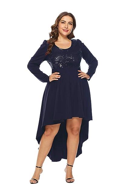Amazon.com: ESPRLIA - Vestido de noche para mujer, talla ...