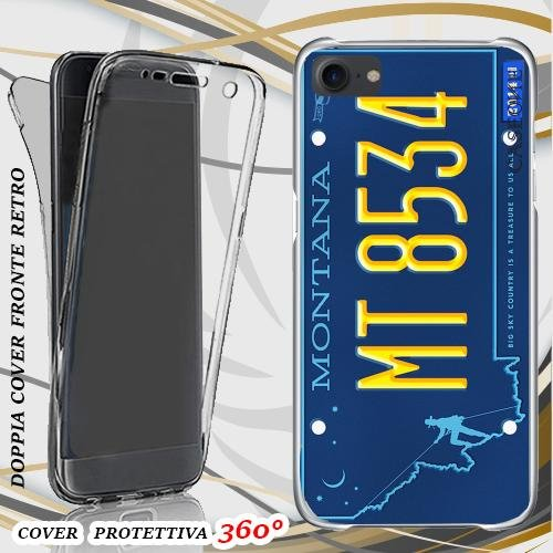 CUSTODIA COVER CASE TARGA MONTANA PER IPHONE 7 FRONT BACK