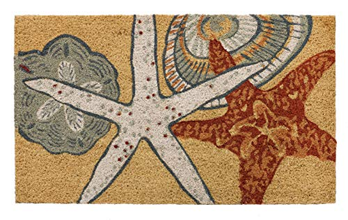 HF by LT Starfish 100% Coir Doormat, 18 x 30 inches, Naturally Durable, PVC-Backing, Sustainable