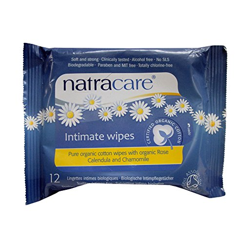 Natracare Organic Intimate Cotton Wipe - 12 Pack Value Size (144 Wipes Total) - Intimate Care