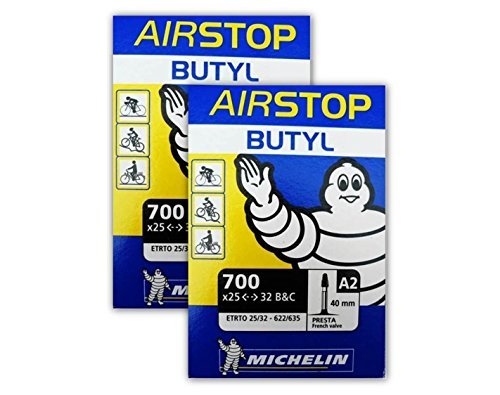 Michelin Airstop Butyl Tube - Michelin A1 Airstop PRESTA Valve 700 x 25-32c 40mm Bike Tube - TWO (2) PACK