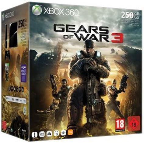 Microsoft Xbox 360 Slim, 250GB + Gears of War 3 - juegos de PC (250GB + Gears of War 3, Xbox 360, 812 MB, 250 GB, 135W, Negro, 2,9 kg): Amazon.es: Videojuegos