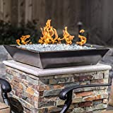 Lakeview Outdoor Designs Westfalen 24-Inch Square Low-Rise Natural Gas Column Fire Bowl - Oil Rubbed Bronze