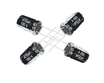 10 x Aluminium Electrolytic Capacitor New 20/% 47 UF 6,3 V