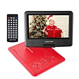 【Upgraded】 DBPOWER Portable DVD Player with 9.5'' HD Swivel Screen, Supports SD Card/USB/CD/DVD with AV in/Out and Earphone Port, 5-Hour Built-in Rechargeable Battery, Suitable for Car Headrest Mount