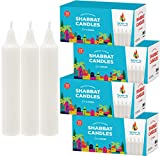 Israel Candle Shabbat Candles Shabbos 3 Hr. - 72 Ct. (4-Pack)