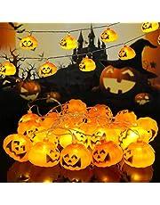 WNIPH Halloween ljusslinga pumpa 3 m 20 LED dekoration ljus för hus inomhus utomhus trädgårdar träd halloween festival jul bar julfirande fest