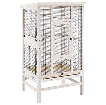 Gut ausgestattete, hochwertige Vogelvoliere, ideal für Wellensittiche, Kanarienvögel und andere kleine Vögel geeignet, inklus