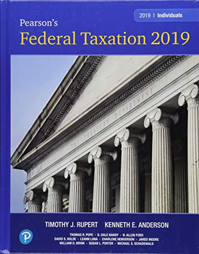 Pearson's Federal Taxation 2019 Individuals (32nd Edition)