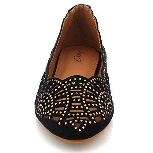la Negro Mujeres Negro la señoras Marrón Diamante Plana de Zapatos Ocasional Aarz la Las de de Bomba los Tarde Bailarina Comfort tamaño de de twgZXqZ1
