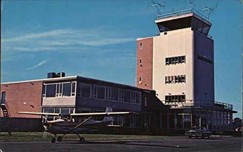 Ammon Municipal Airport Manchester, New Hampshire Original Vintage Postcard