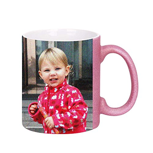 Bling Custom Photo Coffee Mug Cup, Personalized DIY Print Handle Cup Ceramic Customized Mug, Keepsake Birthday Christmas Gift -Add YOUR PHOTO&TEXT (Frosted Purple) ()