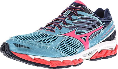Mizuno Women's Wave Paradox 3 Running Shoe, Capri-Pink, 9 B (Mizuno Womens Wave)
