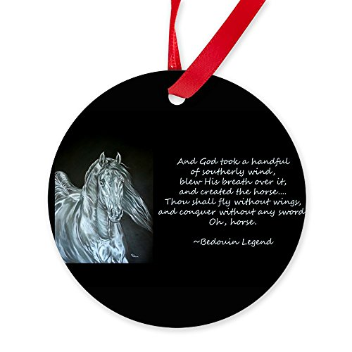 CafePress - Legend Of The Horse - Round Christmas Ornament by CafePress
