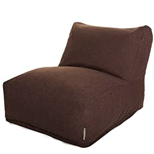 Majestic Home Goods Loft Bean Bag Chair Lounger, Dark Chocolate
