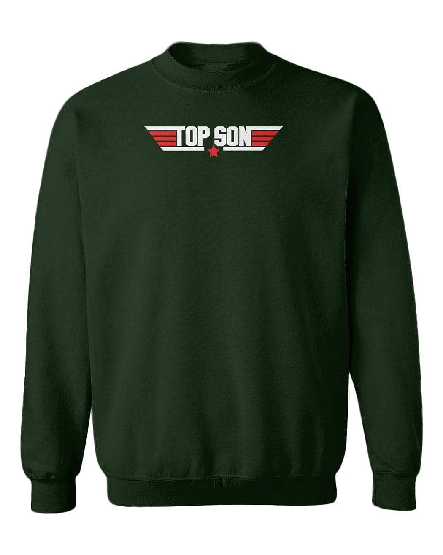 Top Son Wingman Fighter Pilot Youth Fleece Crewneck Sweater