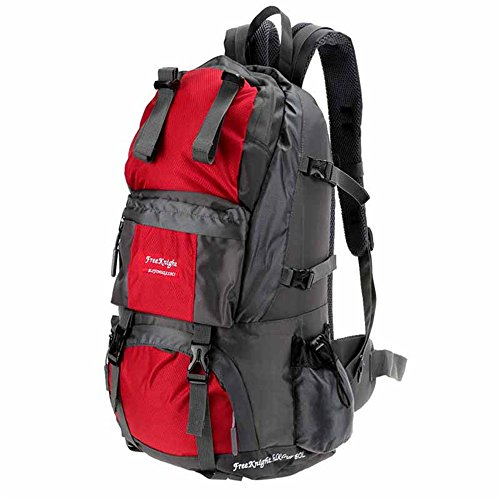 Sammid 50L Camping Backpack,Large Waterproof Foldable & Packable for Outdoor Climbing and Travel - Red by Sammid