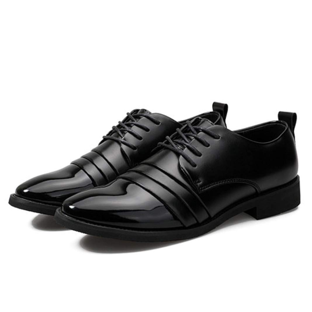 New Mens Pointed Toe Lace Up Snakeskin Pattern Prom Business Oxfords Dress Shoes