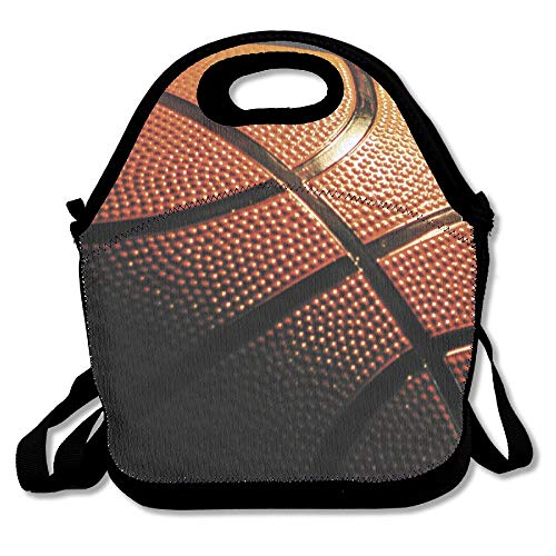 Neoprene Lunch Tote - Basketball Wallpaper Waterproof Reusable Cooler Bag For Men Women Adults Kids Toddler Nurses With Adjustable Shoulder Strap - Best Travel Bag