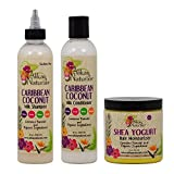 "Alikay Naturals Caribbean Coconut Milk Shampoo + Conditioner + Shea Yogurt Hair Moisturizer 8oz ""Set"" Review"