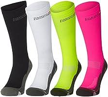 DANISH ENDURANCE Calcetines de Compresión, 2 o 1 pares, hombres y mujeres, para el deporte, rendimiento, la circulación, recuperación, enfermeras, calambres en las piernas, vuelos, fines médicos