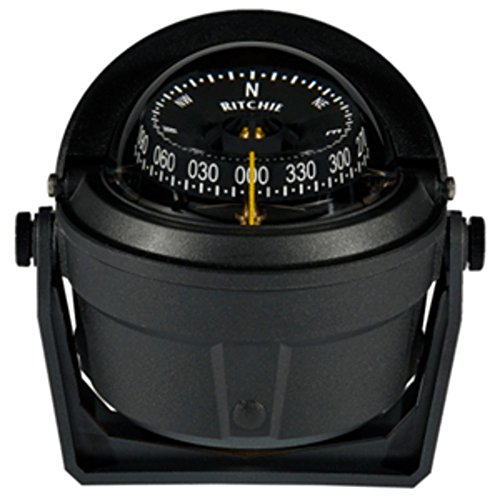 Ritchie B-81-WM Voyager Bracket Mount Compass - Wheelmark Approved f/Lifeboat & Rescue Boat Use Marine , Boating Equipment