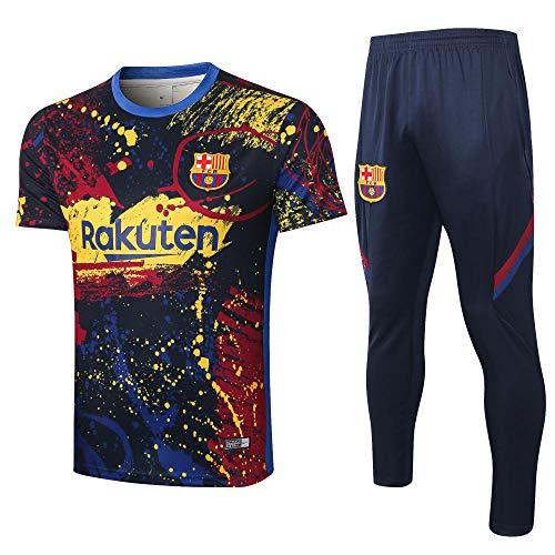 Uniformes de Entrenamiento de fútbol Club Uniformes de fútbol Camisetas y Pantalones de Manga Corta Transpirables y de…