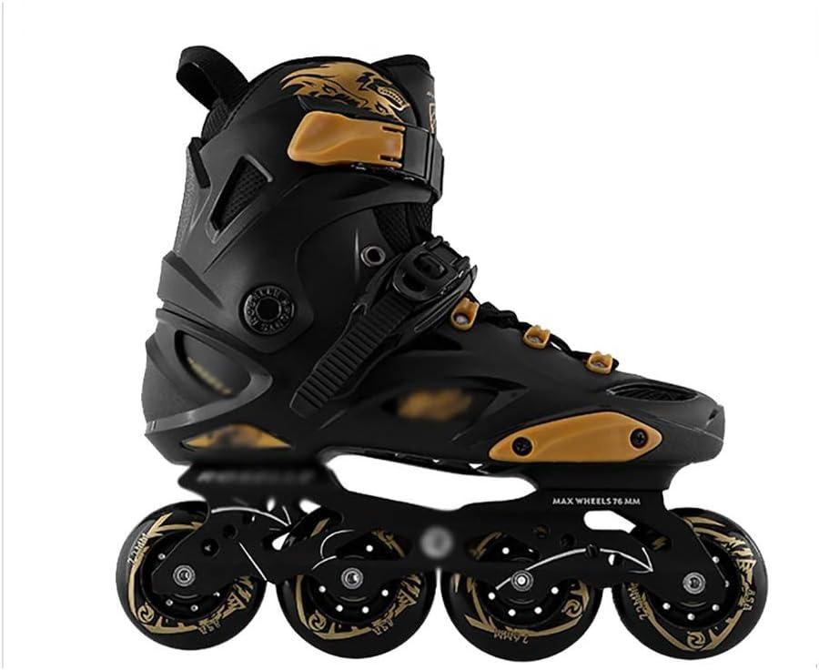 大人 フルフラッシュ インラインスケート, ジュニア 用ポータブル 1列スケート靴,女の子 男性 1列スケート靴 (Color : C, Size : EU 43/US 10/UK 9/JP 26.5cm)