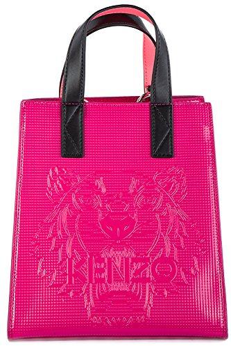 Kenzo borsa donna a mano shopping tote nuova tiger fucsia