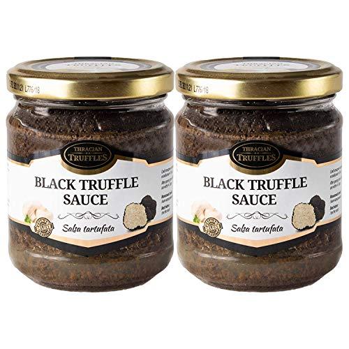 Zwarte zomertruffel Tuber aestivum Salsa Tartufata Black summer truffle Luxe Gourmet saus Pasta ideaal voor vlees…