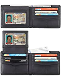 Genuine Leather RFID Blocking Wallets Mens Wallet Bifold Classic