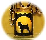 PupLife Brussels Griffon Dog Breed Jar Candle Holder