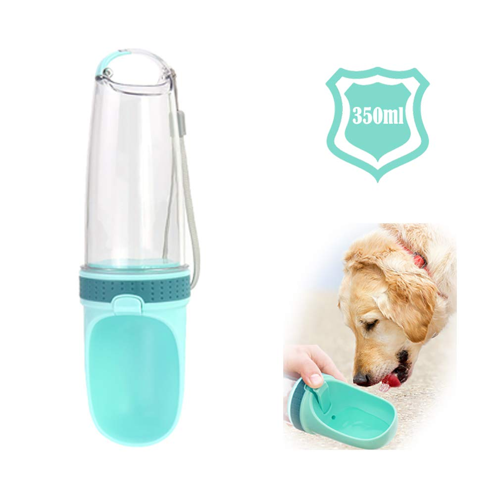 ArZen Dog Water Bottle, Fashion Portable Pet Travel Drink Cup(350ml), Walking, Hiking, Running and The Dog Park, Pet Travel Water Dispenser Feeder Container with Filter by ArZen
