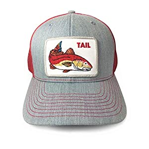 Unisex Bold Fish Series Trucker Hat Redfish Mesh Snapback Hats for Men A Cap for All Outdoor Activity Hunting Fishing Baseball and The Great Outdoors
