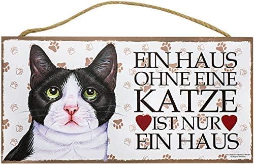 Cartel de madera animales Cartel Deko un hogar sin gato ...