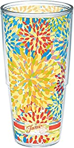 Tervis Fiesta - Poppy Calypso Insulated Tumbler With Wrap, 24 oz, Clear - 1141355