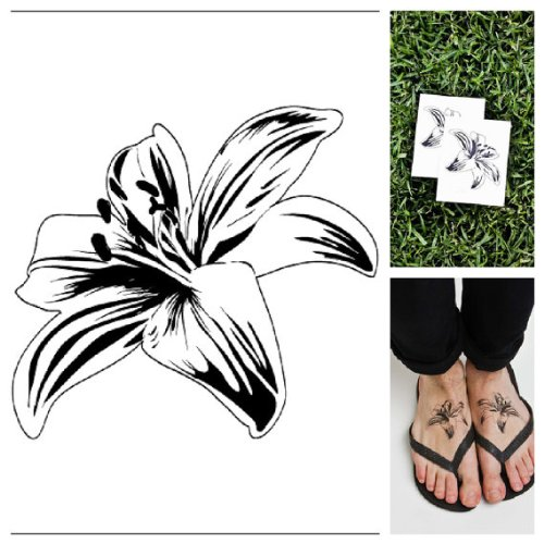 Flower - temporary tattoos (Set of (Makeup Artist Costume Ideas)