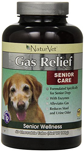 NaturVet 60 Count Senior Gas Aid Tablets for Dogs
