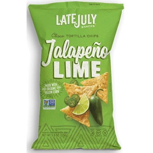 Late July Organic Jalapeno Lime Tortilla Chips, 5.5 Ounce - 12 per case.