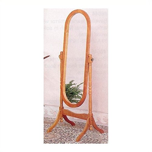 Monarch Specialties Coaster 4101 Home Furnishings Cheval Mirror, Honey