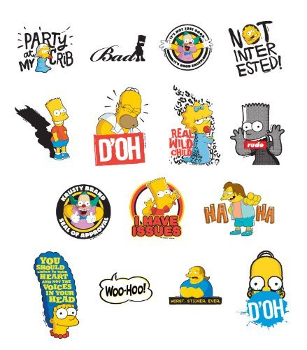 15 Simpsons Stickers - Set of 15