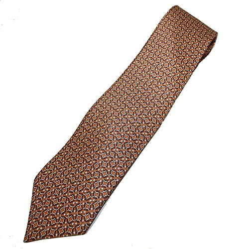 Gucci Horsebit Silk Tie 336429, Orange Silk Necktie